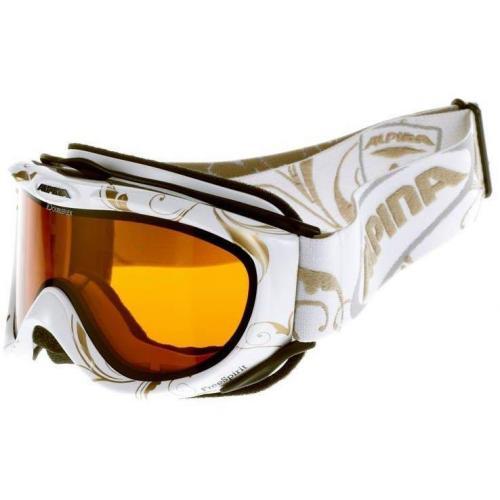 Alpina FREESPIRIT Skibrille white deco
