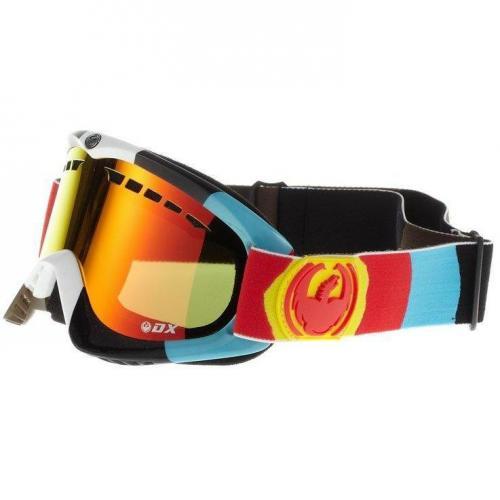 Dragon Alliance DX Skibrille rot/braun/weiss/schwarz/blau