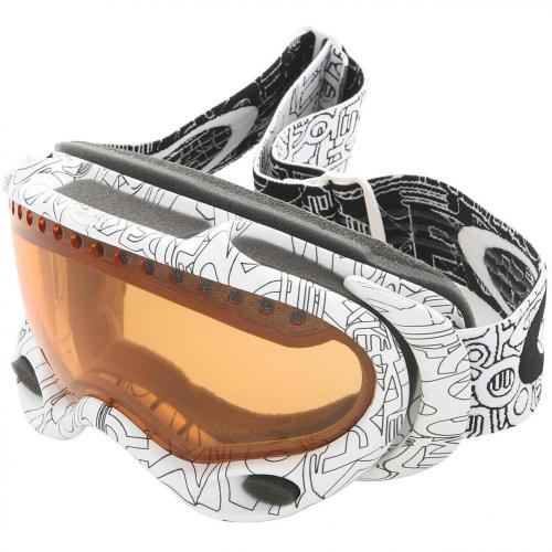 Oakley A-Frame Skibrille White Factory Text-Persimmon