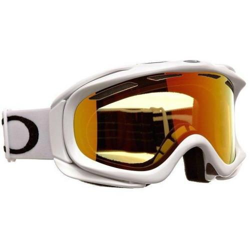 Oakley AMBUSH SNOW Skibrille polished white w/fire
