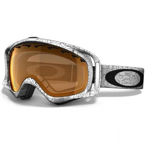 Oakley Crowbar white factory text Brown Shade