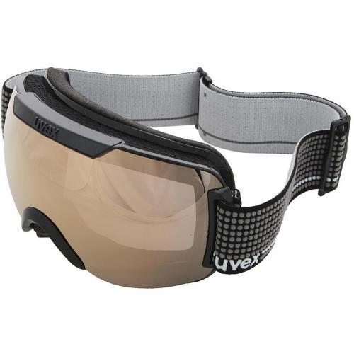 Uvex Downhill 2000 Skibrille Black-Litemirror Gold-Smoke